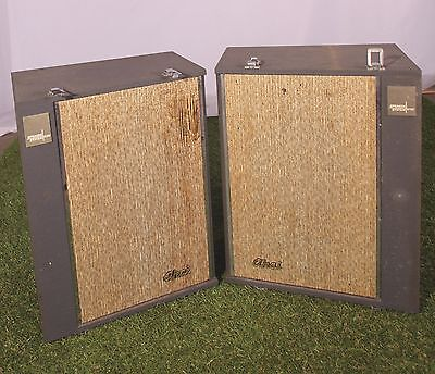 "Vintage AKAI SS-100 10"" Portable Speaker System Made In Japan reel-to-reel p.a."