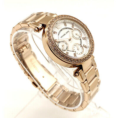 New Michael Kors MK5616 Analog Parker Pavé Rose Gold-Tone Ladies 33mm Watch