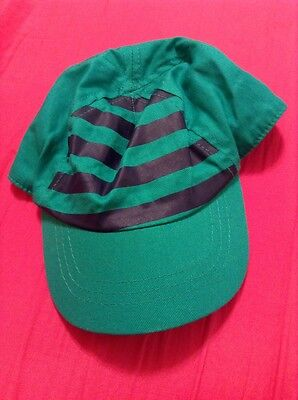 Infant Boys Green And Navy Blue Baseball Hat Size 12-24 Months Target
