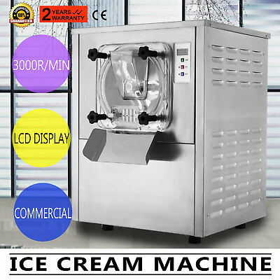 Frozen Hard Ice Cream Machine Commercial 20L catering business 1400W LCD Display