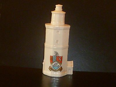 "WH GOSS Crested China Model of North Foreland Lighthouse. Crest of ""Broadstairs"""