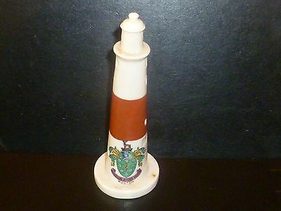 WH GOSS Crested China Model of Portland Lighthouse. Crest of Buxton