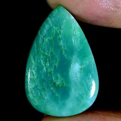 22.35cts 100% NATURAL GORGEOUS GREEN BIO CHRYSOPRASE PEAR CABOCHON A+ GEMSTONE