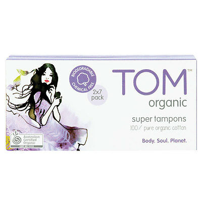 TOM Organic Tampons Super 14 Pack