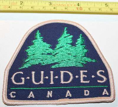Girl Guides Canada Evergreen Trees Large Logo Badge Label Patch