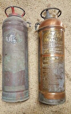 Antique Vintage Pacific Fire Extinguisher Co.! 468785 Brass Tank For Foam! Nice!