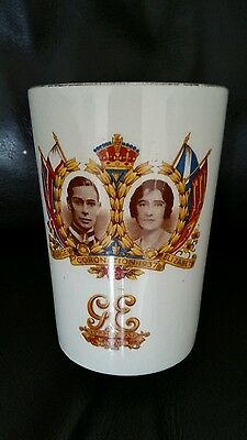 George VI & Elizabeth 1937 Coronation Beaker 12th May