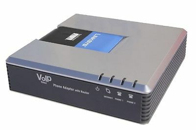 LINKSYS CISCO PAP2T-NA PAP2T 2 Line VoIP Analogue phone SIP Gateway Adapter ATA