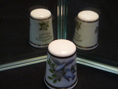 Love Birds Royal Worcester China Thimble