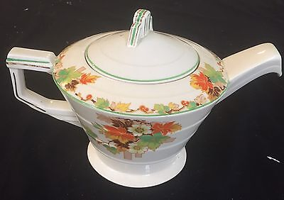 Vintage Grindley Creampetal 'autumn'  4 Cup Teapot - Appears New In Ex Condition