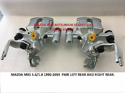 Mazda Mx5 Mx-5 Eunos Miata Mk1 2 Convertible Rear Pair Brake Caliper Calipers