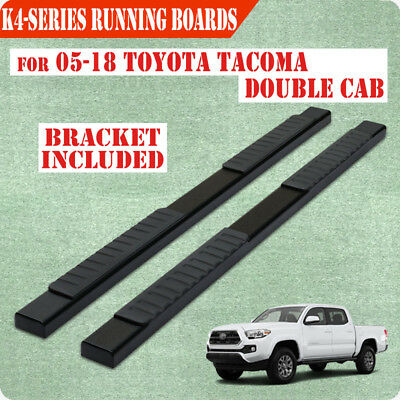 """For 05-19 TOYOTA Tacoma Double Cab 4"""" Black Running Board Nerf Bar Side Step H"""