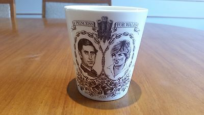 Royal Doulton 1981 cup to celebrate the marriage of charles and diana