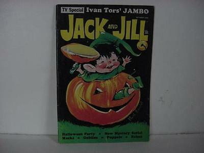 Vintage JACK AND JILL Magazine HALLOWEEN October 1969 w/ELF Playing in JOL