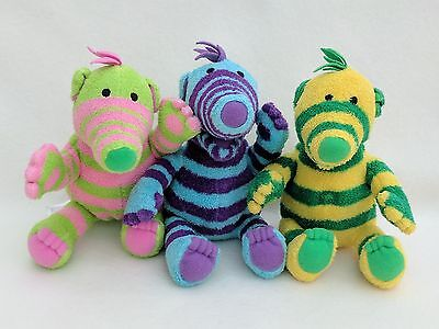 The Fimbles Set Lot of Cuddly Soft Toy Plush Teddy Fimbo Florrie Baby Pom