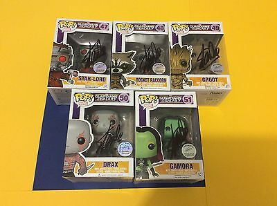 (5) STAN LEE signed auto GUARDIANS OF THE GALAXY (Excelsior) COA pop Funko toys