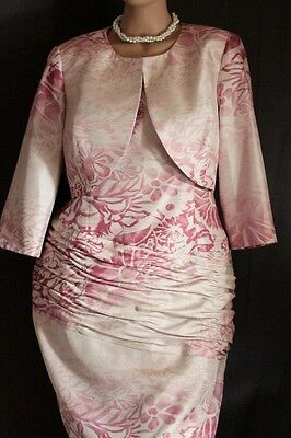 Michael Ambers Mother of the Bride size 16 pink & cream Wedding Dress Occasion