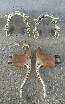 MAFAC GOLD Competition Vintage Brake Levers Calipers Freins