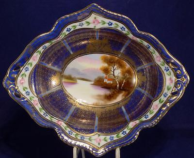 Noritake Hand Painted Bowl with Gilded Surround