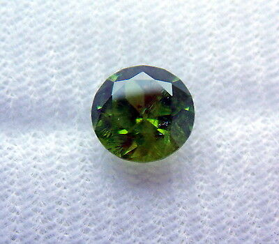 "Russian natural Urals demantoid. 1.91ct with a ""ponytail""lowered pricе"