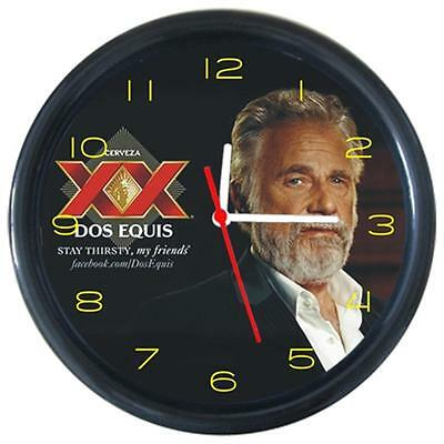 Dos Equis Man Beverage Cold Beer Drinks Round Wall Clock