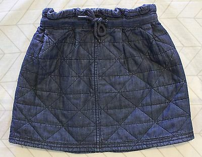 COUNTRY ROAD ~ Girls Chambray Blue Denim Look Quilted Cotton Skirt 5