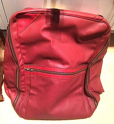 VERY RARE LOUIS VUITTON DUFFEL or KIT BAG –Red leather, almost unused!!!!