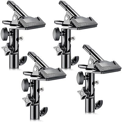 """Neewer® 4 PCS Photo Studio Heavy Duty Metal Clamp Holder with 5/8"""" Light Stand"""