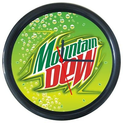 Mountain Dew Cold Drinks Beverage Beer Logo Sign Round Wall Clock