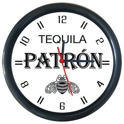 Patron Tequila Cold Drinks Beverage Beer Logo Sign Round Wall Clock