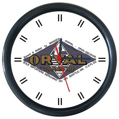 Orval Cold Drinks Beverage Beer Logo Sign Round Wall Clock