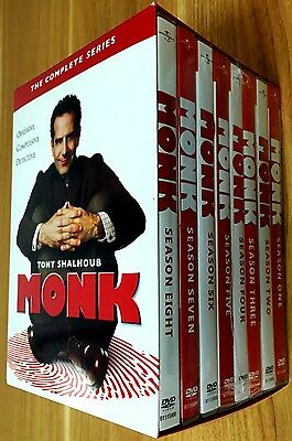 Monk: The Complete Series Seasons 1-8  (DVD, 2016, 32-Disc Set) BRAND NEW!!