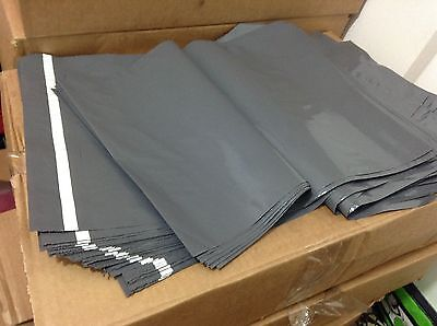 """20 BAGS - 10"""" x 14"""" STRONG POLY MAILING POSTAGE POSTAL QUALITY SELF SEAL GREY"""