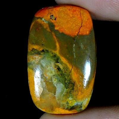 18.35cts 100% NATURAL LOVELY BUMBLEBEE ECLIPSE JASPER CUSHION CABOCHON GEMSTONE