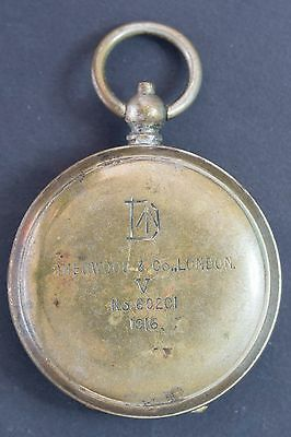 Sherwood & Co. London. British Army WW1 military field compass, issued 1916