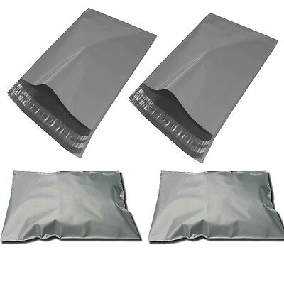 50 GREY A4 POLYTHENE SELF SEAL PLASTIC ENVELOPES MAILING BAGS 225 x 300mm