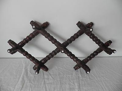 Vintage French Wooden Wall mountable  Hat Coat Rack.