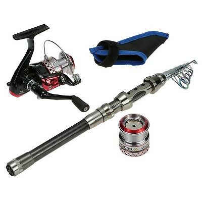 Complete Fishing Set Up Portable Hand Pole Telescopic Fishing Rod Accessories