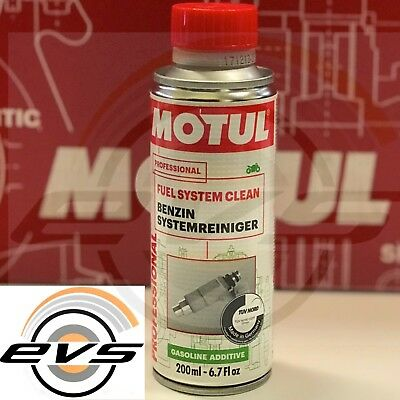 Additivo Pulitore Iniettori Carburatore Motul Fuel System Clean Moto 4T 200 ml