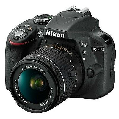 Nikon D3300 with 18-55mm AF-P lens kit - Black - Manufacturer Refurbished