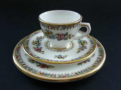 "Vintage Coalport ""ming Rose"" Miniature Trio Cup Saucer And Plate Perfect"
