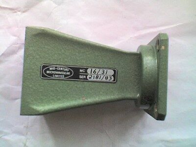 Mid-Century MC16/31 Green Waveguide 69mm Horn WG16 - Square Flange fitting -USED