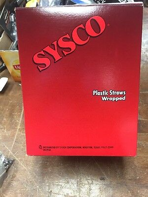 Clear Plastic Wrapped Straws 500 Ct 20 Boxes In Case