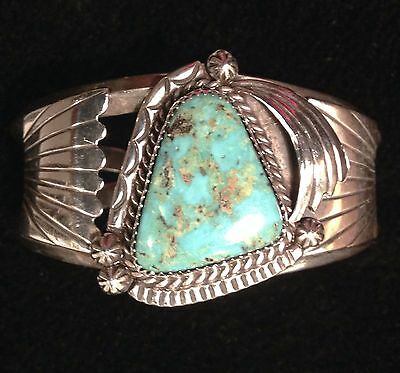 STERLING SILVER TURQUOISE cuff WOMEN'S BRACELET, HAND CRAFTED