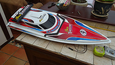 Radio controlled electric motor boat