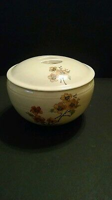 "Vintage Coors Thermo Pottery Pudding/Casserole with Lid, ""FLOREE"" floral pattern"