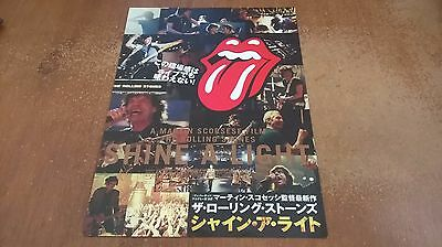Rolling Stones Shine a Light Japanese Flyer/poster