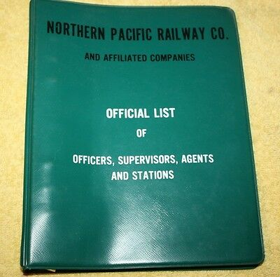 1968  Northern Pacific  Railway Co. Official List of Officers, Agents & Stations