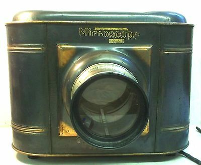 Antique MIRRORSCOPE Large Lens Postcard or Photo Viewer Magnifier