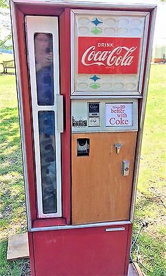 Vintage Coke Coca Cola Cavalier CSS-96G Soda Vending Machine Early 1970's